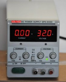REGULATED VARIABLE LINEAR DC POWER SUPPLY GPS-3030D 30V 3A